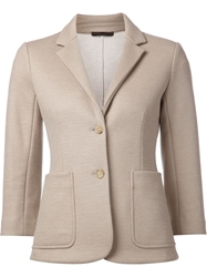The Row Fitted Blazer Nude And Neutrals