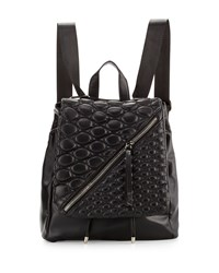 Gx By Gwen Stefani Irene Quilted Flap Backpack Black Matte