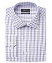 Alfani Men's Big And Tall Classic Fit Performance Check Dress Shirt Only At Macy's Grape