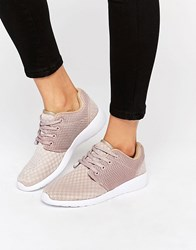 Missguided Lace Up Trainer Nude Beige