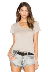 Atm Anthony Thomas Melillo Schoolboy V Neck Tee Beige