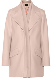 Thakoon Ribbed Trimmed Wool Blend Coat Pink