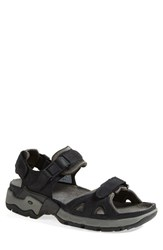 Men's Allrounder By Mephisto 'Alligator' Sandal Black