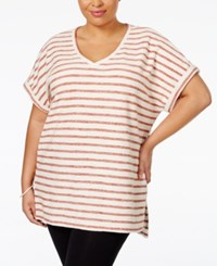 Styleandco. Style Co. Plus Size Dolman Sleeve Striped Top Only At Macy's Sienna Orange