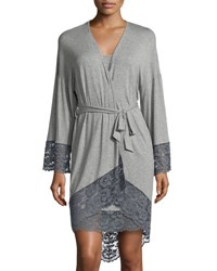 Cosabella Nouveau Kimono Robe Heather Gray H. Grey Anthra