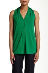Max Studio Sleeveless A Line Blouse Green