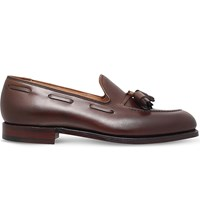 Crockett Jones Cavendish Leather Tassle Loafer Dark Brown