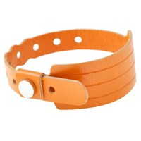 Cast Of Vices Leather Hospital Bracelet Orange