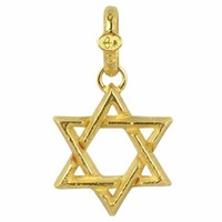 Torrini Stella Di David Large 18K Yellow Gold Pendant