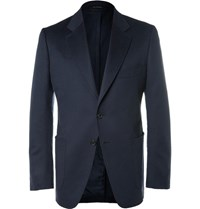 Tom Ford Blue O'connor Slim Fit Unstructured Cashmere Blazer Navy