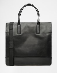 Asos Structured Tote Bag With Contrast Blacktan