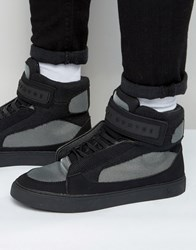Criminal Damage Bronx 2 High Top Trainers Black