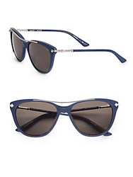 Rebecca Minkoff Ludlow 55Mm Cat's Eye Sunglasses Blue