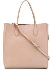 Rochas Textured Shopper Tote Nude And Neutrals