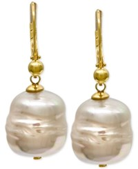 Majorica 18K Vermeil Imitation Baroque Pearl 12Mm Drop Earrings White