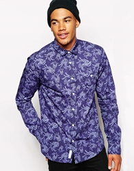 The Cuckoo's Nest Cuckoos Nest Shirt With Reborn Print Blue
