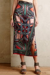 Maeve Geoda Wrap Skirt Multi