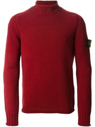 Stone Island Turtle Neck Sweater Red