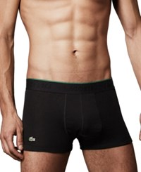Lacoste Supima Cotton 3 Pack Stretch Trunks Black