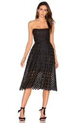Nicholas Spot Lace Ball Dress Black