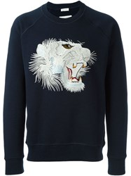Marc Jacobs Embroidered Tiger Sweatshirt Blue