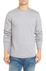 Threads For Thought Men's Double Knit Long Sleeve Thermal T Shirt Castor Grey