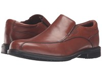 Rockport Essential Details Ii Waterproof Bike Toe Slip On Tan Antique Leather Men's Shoes Brown