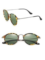 Ray Ban 49Mm Round Sunglasses Vintage Tortoise