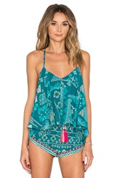 Rococo Sand Aztec Tank Top Teal