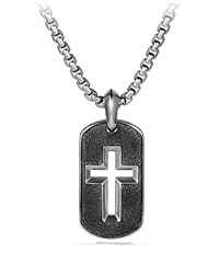 Cross Tag Chain Necklace David Yurman