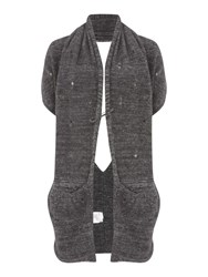 Sarah Pacini Long Sleeveless Cardigan Grey