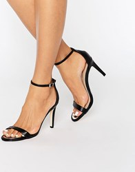 Call It Spring Liraniel Barely There Heeled Sandals Black Synthetic