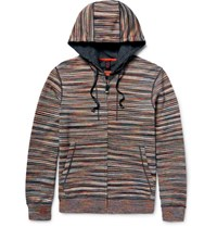 Missoni Mioni Pace Dyed Cotton Zip Up Hoodie Brown