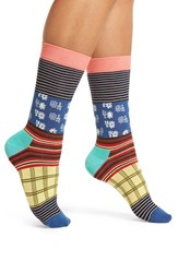 Happy Socks Women's Mixed Pattern Crew
