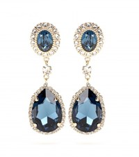 Givenchy Embellished Clip On Earrings Blue