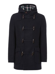 Howick Hucklow Duffle Coat With Toggle Fastening Navy