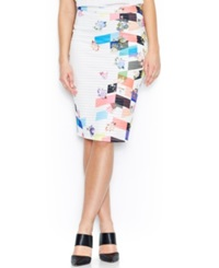 Bar Iii Textured Ponte Knit Body Con Pencil Skirt