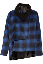 Thakoon Plaid Felt Jacket Blue