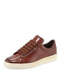 Tom Ford Russel Leather Low Top Sneaker Brown