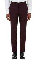 Burberry X Barneys New York Men's Tuxedo Trousers Burgundy
