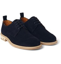 Ami Alexandre Mattiussi Suede Derby Shoes Navy