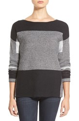 Women's Love Fate Destiny Colorblock Boatneck Sweater Black