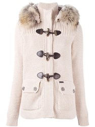 Bark Fur Hood Jacket Nude Neutrals