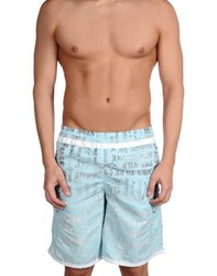 Just Cavalli Beachwear Swimwear Swimming Trunks Men Sky Blue