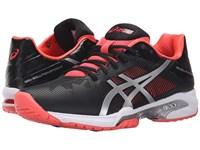 Asics Gel Solution Speed 3 Black Silver Diva Pink Women's Tennis Shoes