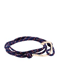 Miansai Rope Wrap Hook Bracelet Unisex Navy