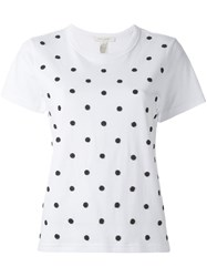 Marc Jacobs Beaded Polka Dot T Shirt White