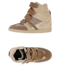High Tops And Trainers Light Brown