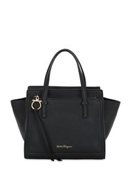 Salvatore Ferragamo Small Amy Grained Leather Tote Bag