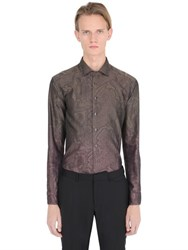 Etro Gradient Paisley Jacquard Cotton Shirt